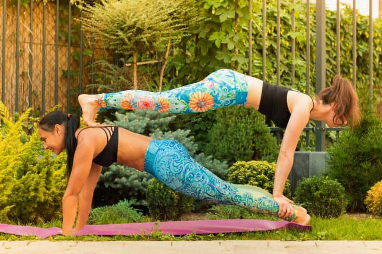double plank yoga pose